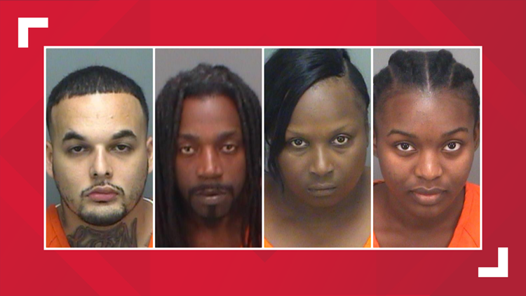 4 people accused of sneaking cell phone into the Pinellas County