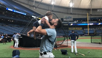 This video of the Rays' Kevin Kiermaier and his baby will make your day