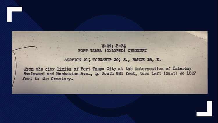 Port Tampa Cemetery records