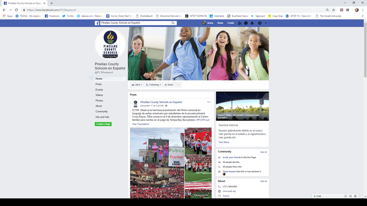 Pinellas County Schools now have Facebook page in Spanish