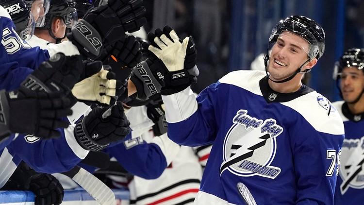 Vasilevskiy, Colton help Lightning beat Blackhawks 4-2