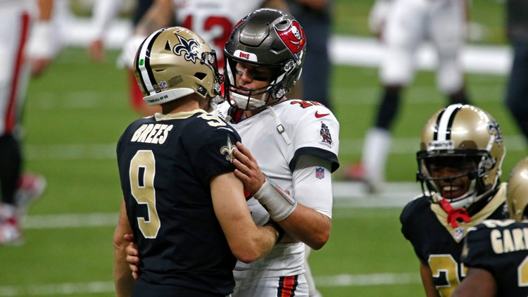 Battle of the old guard: Tom Brady and Drew Brees set for playoff showdown