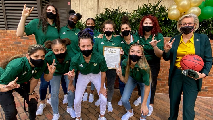 City of Tampa declares April 8 'USF Women's Basketball Team Day' in honor of historic season