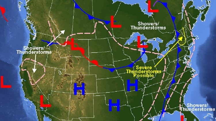 9 10 2001 forecast map