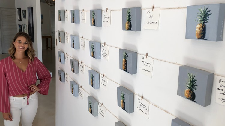 The artist hopes her mini pineapples inspires others