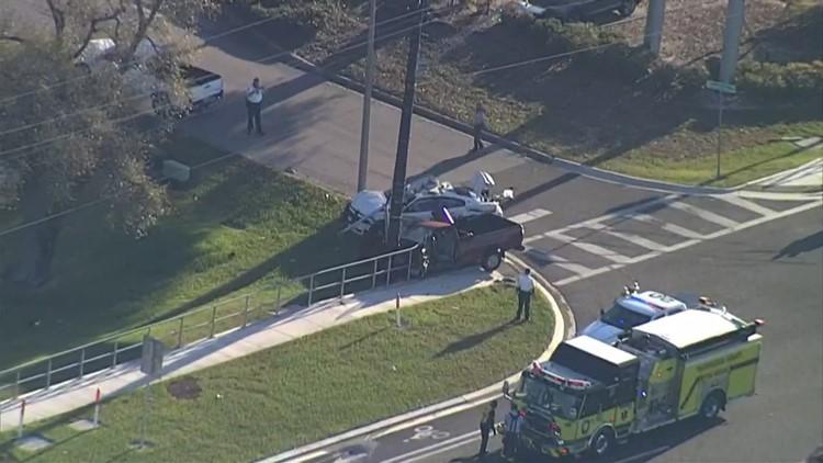 Elderly man and deputy taken to hospital after crash in Hillsborough County