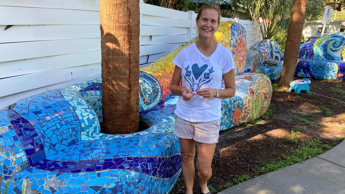 Months of work were worth the wait for art shop owner creating mosaic in Safety Harbor