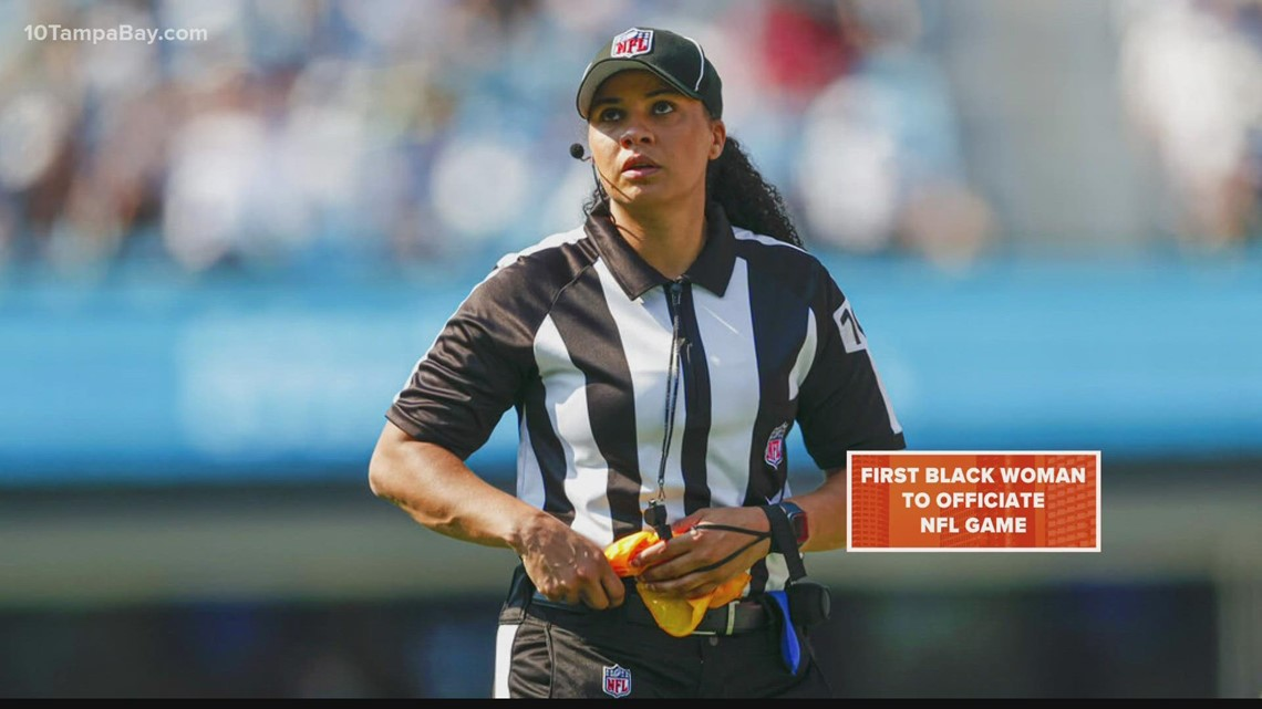 Referee Maia Chaka becomes first Black woman to officiate an NFL game