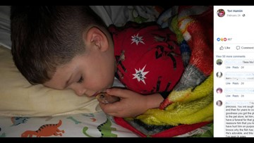 Boy accidentally kills goldfish by taking it to bed