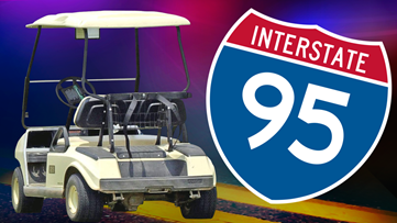 Florida woman accused of stealing golf cart, taking it for joyride on I-95