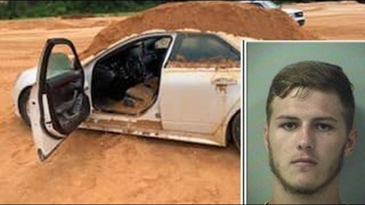Florida man accused of dumping dirt on girlfriend's car because she didn't answer his question