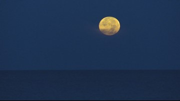 Moon over Treasure Island on the 50th anniversary of the Apollo 11 launch