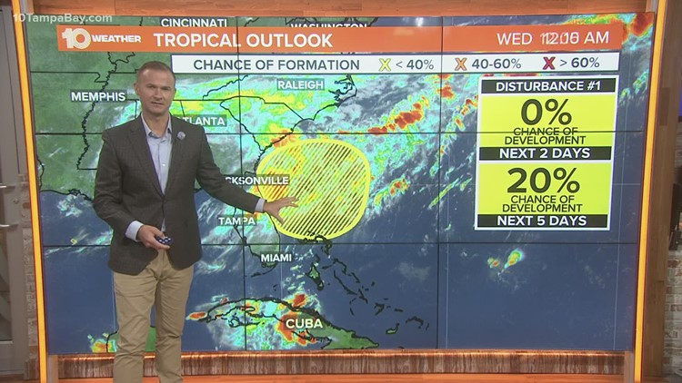 Area of low-pressure has low chance of becoming a tropical cyclone