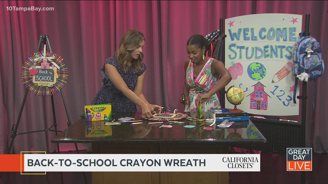 Host Help: DIY crayon wreath