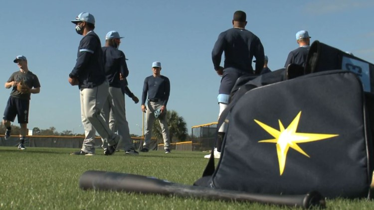 Rays hit the field in first full workout of training camp