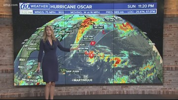 Hurricane Oscar to stay away from the US