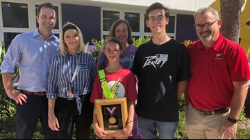 5th grader honored after pulling another student out of the way of a speeding vehicle