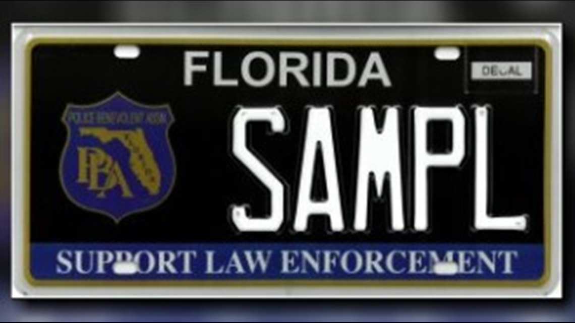 Florida's 'Support Law Enforcement' specialty plate gets new look for first time in 18 years
