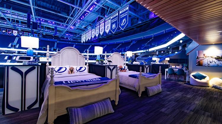 Sleep like a champion overnight at Amalie Arena