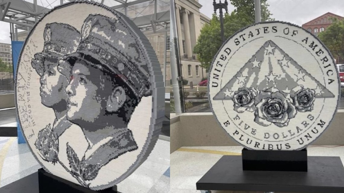 Art installation made entirely of LEGO honors law enforcement