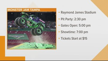 Monster Jam returns to Tampa for first show of 2020
