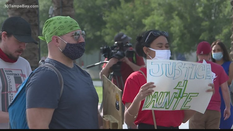 Tampa demonstrators call for police reform, justice