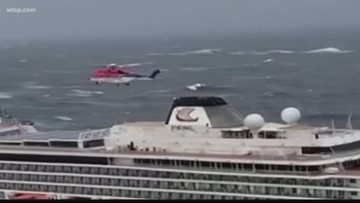 Crews airlift passengers from cruise ship