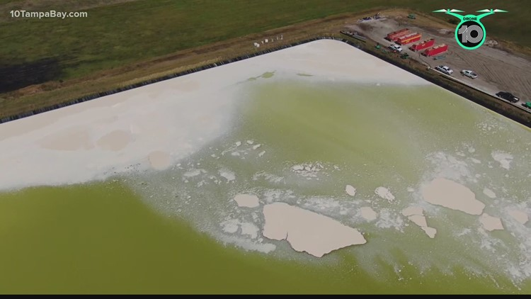 Florida DEP: 'Low-level flow' spotted from underneath temporary fix at Piney Point site