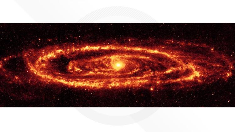 Amazing Andromeda galaxy in infrared nasa spitzer