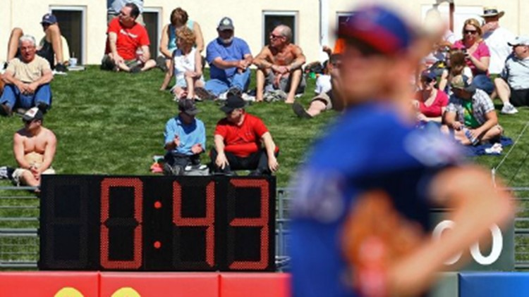 5d485b29648 MLB to implement pitch clock for spring training games