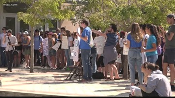 New College students rally to save their school