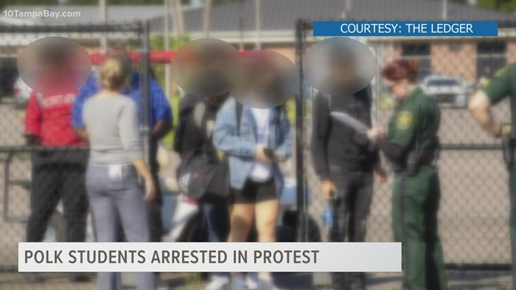 15 students arrested at Kathleen High School after protest turned disruptive