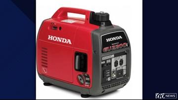 Honda recalls portable generators