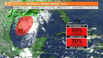 New tropical wave develops where Tropical Storm Nestor formed