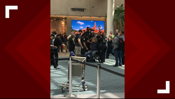 Security incident at Orlando airport causes 'panic'