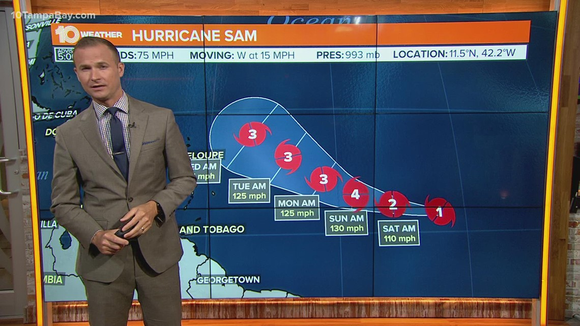 Sam now a hurricane, could become major storm by the weekend
