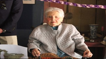 Woman celebrates 100 years of history with muffins in the same home where she was born