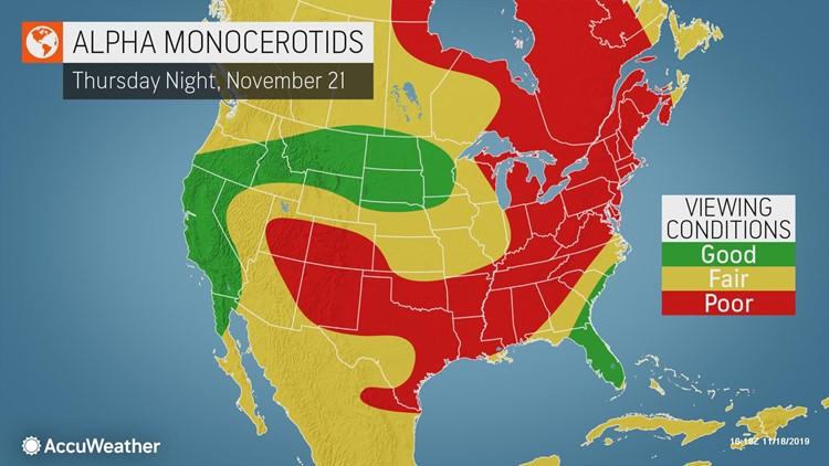 alpha monocerotids meteor shower 112119