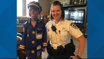 Hillsborough County deputy buys Halloween costume for kid who wants to protect and serve