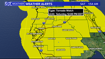 Tornado watch issued for the entire Tampa Bay area