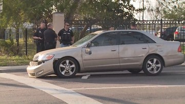 Driver leads police chase in stolen car before crashing into off-duty colonel
