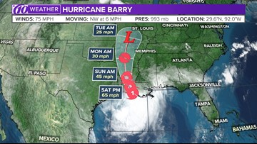 Hurricane Barry: 75-mph storm nears landfall as extreme flooding looms