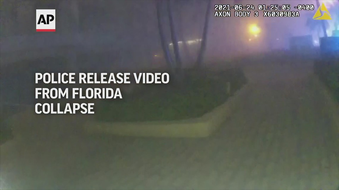 Police release video of officers responding to Surfside condo collapse