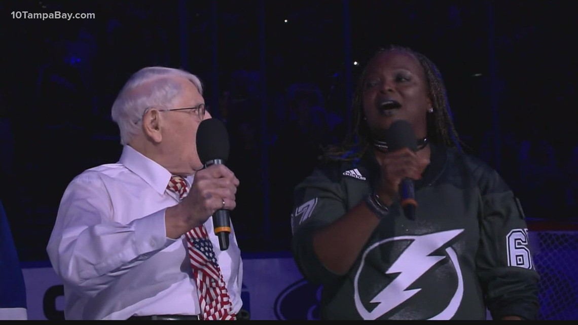 Lightning's national anthem singer moves out of ICU as COVID battle continues at hospital
