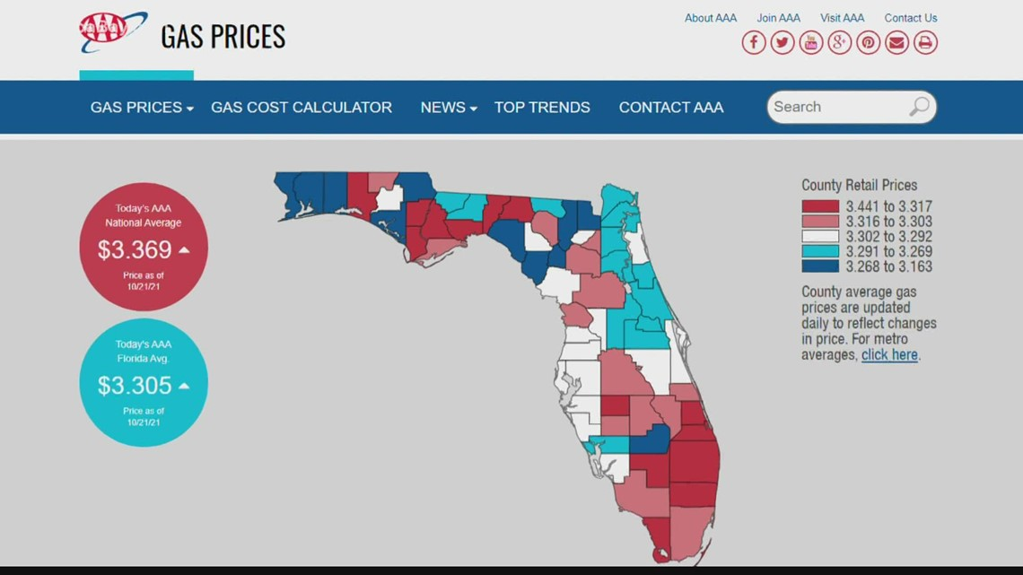 Florida's average gas price climbs to new yearly high