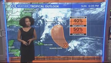 Disturbance pops up in Atlantic