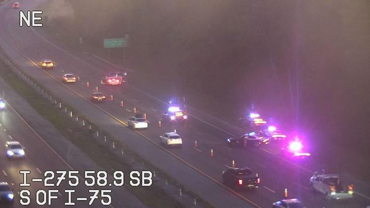 Woman killed in wrong-way crash on I-275