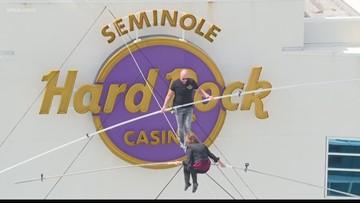 Nik Wallenda and his mom take on the Seminole Hard Rock
