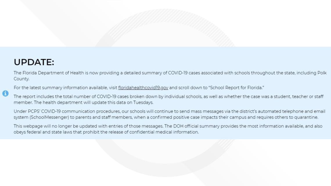 Discrepancies Found In Florida Health S School Covid Dashboard Wtsp Com