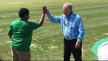 First Tee kids get lessons from Jack Nicklaus